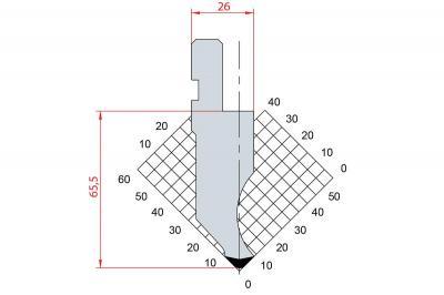 1012: Poinçon 88° r3 h66.50