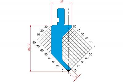 1019: Poinçon 90° r0.6 h84.15