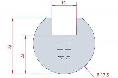 1039: Barre à rayonner R17.5