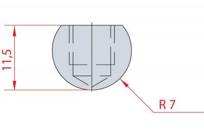 1100: Barre à rayonner R 7
