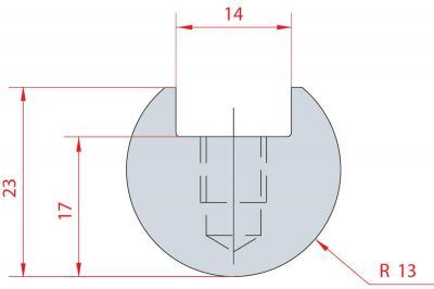 1108: Barre à rayonner R13