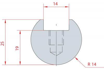 1109: Barre à rayonner R14