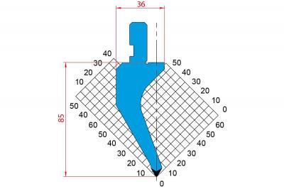 1162: Poinçon 60° r0.8 h85