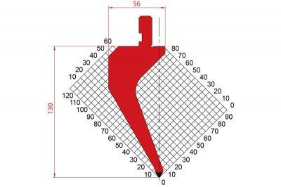 1163: Poinçon 60° r0.8 H 130