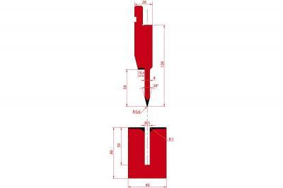 1195: Poinçon à écraser 28° r0.6 h128