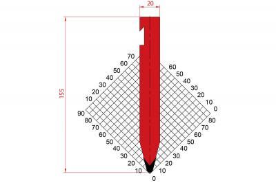 1225: Poinçon 30° r3 h155