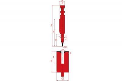 1251: Poinçon à écraser 24° r0.6 h195