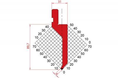 1290: Poinçon 88° r0.6 H89.70