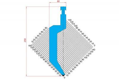 1288: Poinçon 86° r1.5 h250