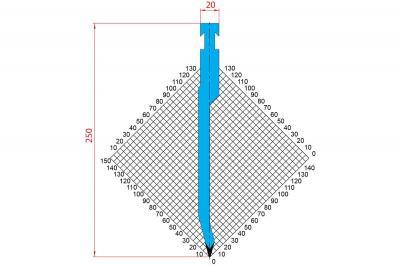 1299: Poinçon 30° r1 h250