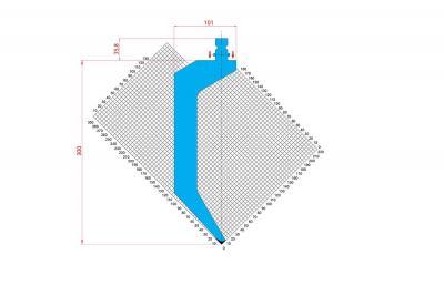 1315: Poinçon 86° r1 h 300mm