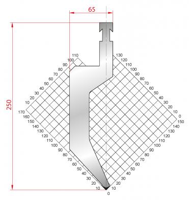1321: Poinçon 85° r1.5 h250