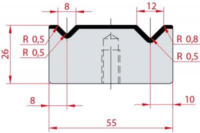 2012: Matrice Amada Promecam à 2V 90°