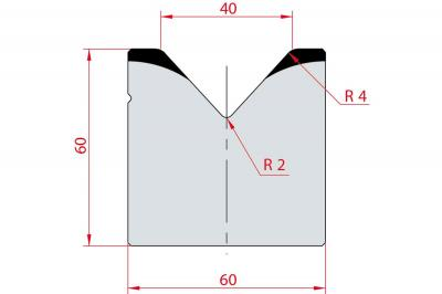 2021: Matrice acier C45 V:40 à 85° H:60
