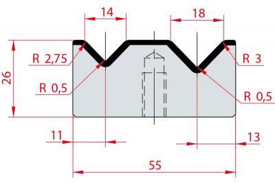 2032: Matrice Amada Promecam à 2V 88°