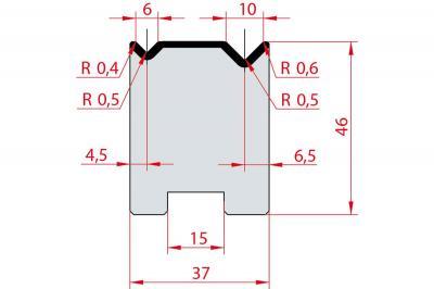 2049: Matrice Amada Promecam à 2V 90° autocentrée
