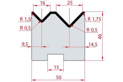 2055: Matrice Amada Promecam à 2V 88° autocentrée