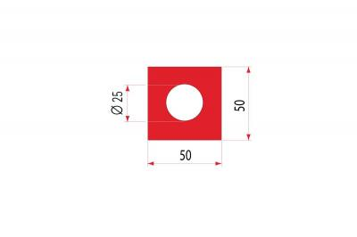 2106: Insert uréthane creux 50x50 mm