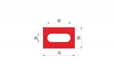 2107: Insert uréthane creux 75x50 mm