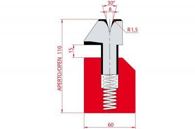3041: Matrice à écraser, V8 à 30°