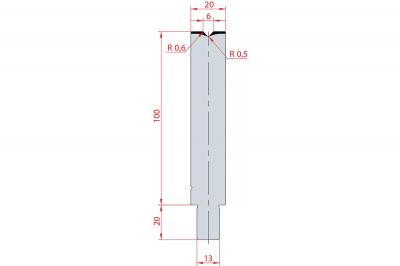 3123: Matrice Trumpf Wila V:6 à 86° H: 100