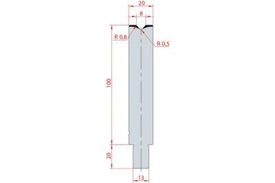 3124: Matrice Trumpf Wila V:8 à 86° H: 100