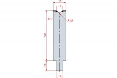 3126: Matrice Trumpf Wila V:12 à 86° H: 100