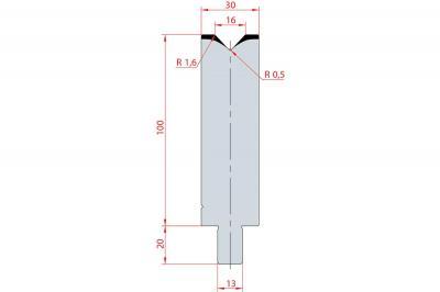 3127: Matrice Trumpf Wila V:16 à 86° H: 100