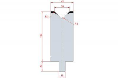 3130: Matrice Trumpf Wila V:30 à 86° H: 100