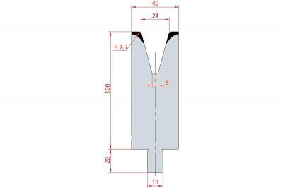 3142: Matrice Trumpf Wila V:24 à 30° H: 100