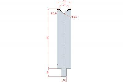 3149: Matrice Trumpf Wila V:24 à 86° H: 150