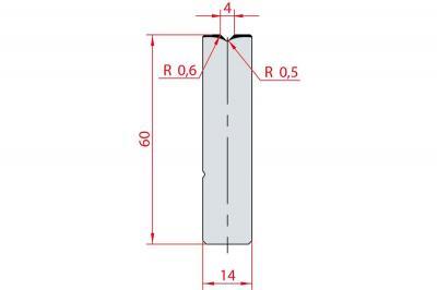 3158: Insert matrice à 88°, hauteur 60 mm, V4