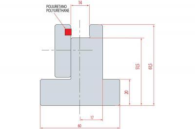 3173: Règle pour fixation matrice à insérer - Longueur : 835 mm
