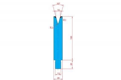 3208: Matrice Trumpf Wila V:10 à 30° H: 100