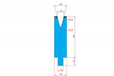 3210: Matrice Trumpf Wila V:16 à 30° H: 100