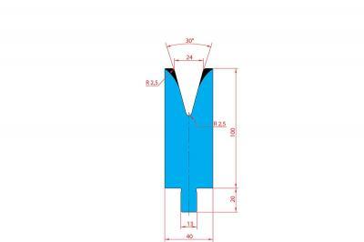 3212: Matrice Trumpf Wila V:24 à 30° H: 100