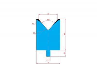 3219: Matrice Trumpf Wila V:60 à 80° H: 100