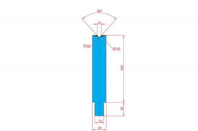 3225: Matrice Trumpf Wila V:6 à 84° H: 100