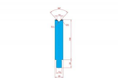 3227: Matrice Trumpf Wila V:10 à 84° H: 100