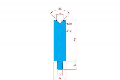 3229: Matrice Trumpf Wila V:16 à 84° H: 100