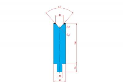 3230: Matrice Trumpf Wila V:20 à 84° H: 100