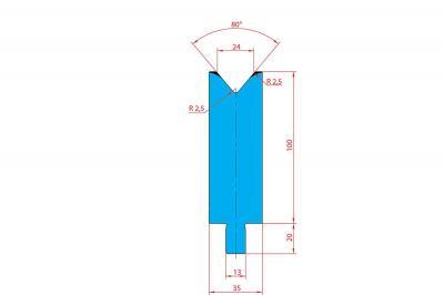 3231: Matrice Trumpf Wila V:24 à 84° H: 100