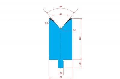 3233: Matrice Trumpf Wila V:40 à 80° H: 100