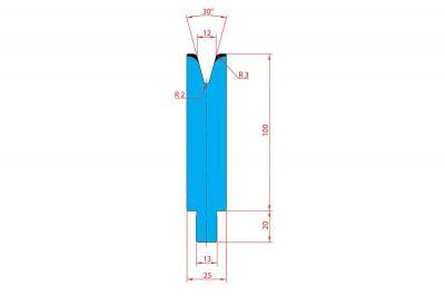 3239: Matrice Trumpf Wila V:12 à 30° R3 H: 100