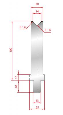 3244: Matrice Trumpf Wila V:14 à 84° H: 100