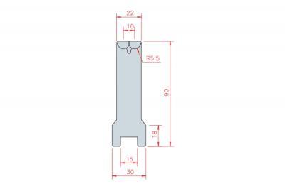 3303: matrice Active Bend 10-22 Amada Promecam