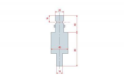 4191: Adaptateur poinçon Amada pour machine montage WILA
