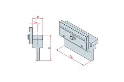 4224: Intermédiaire H 100, Axe à 20 mm