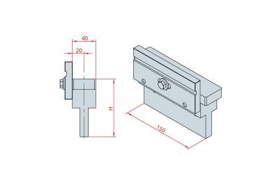 4225: Intermédiaire H 150, Axe à 20 mm