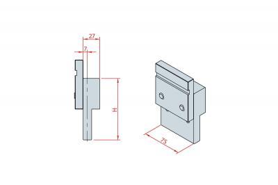 4227: Intermédiaire H 150, longueur 75 mm